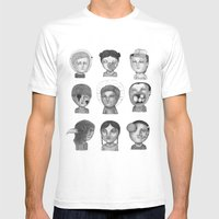 Crazy Heads Mens Fitted Tee White SMALL