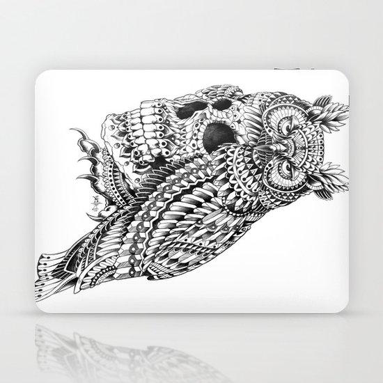 Great Horned Skull Laptop & iPad Skin