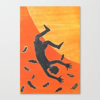 Canvas Print featuring Icarus and Daedalus X by RaiK
