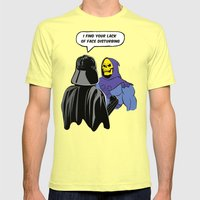 Vader Skeletor I Find your lack of face disturbing  Mens Fitted Tee Lemon SMALL