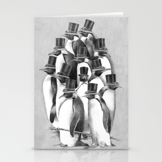 A Gathering of Gentlemen Stationery Card