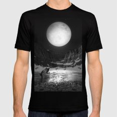 Somewhere You Are Looking At It Too Black Mens Fitted Tee SMALL