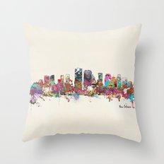 New Orleans Louisiana Sk… Throw Pillow