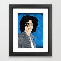 Howard Stern Cartoon Framed Art Print