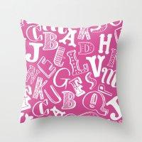 A-Z Throw Pillow