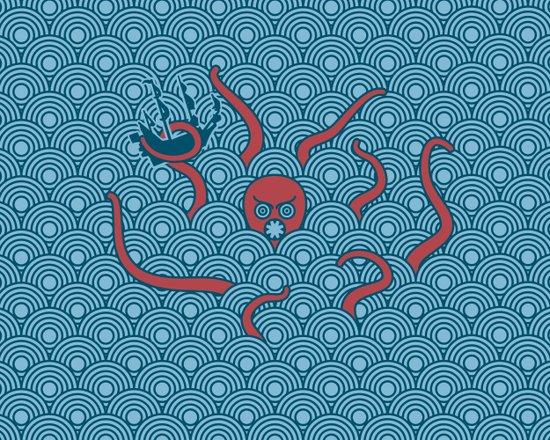 The Last Kraken Canvas Print