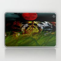 Tiger In the Night Under the Blood Moon Laptop & iPad Skin