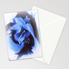 Starburts II cold blue Stationery Cards
