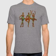 Ballet dancers 1 Mens Fitted Tee Tri-Grey SMALL