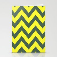 SIC 'EM CHEVRON Stationery Cards