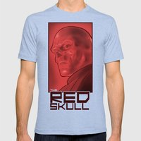 The Red Skull Mens Fitted Tee Tri-Blue SMALL