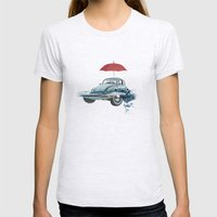 VW Chance of rain in deep water Womens Fitted Tee Ash Grey SMALL