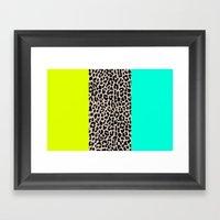 Leopard National Flag XI Framed Art Print
