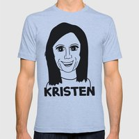 Kristen Wiig Mens Fitted Tee Athletic Blue SMALL