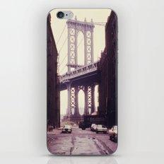 New York City - Manhattan Bridge Tower in Brooklyn iPhone & iPod Skin