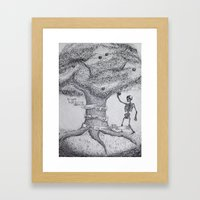 TREE OF GOOD AND EVIL Framed Art Print