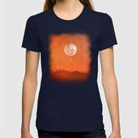 Desert Womens Fitted Tee Navy SMALL