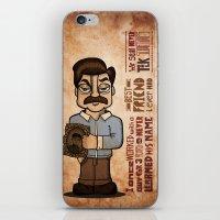 Ron Swanson 3 iPhone & iPod Skin