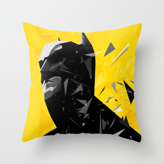 The Caped Crusader Throw Pillow