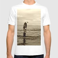 A Boy And The Sea Mens Fitted Tee White SMALL