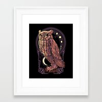 Owl Nouveau Framed Art Print