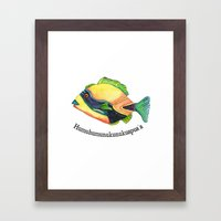 H Is For Humuhumunukunuk… Framed Art Print