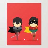 Heroes & super friends! Canvas Print