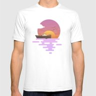 Sunset Mens Fitted Tee White SMALL