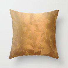 Brushed Copper Metallic Throw Pillow