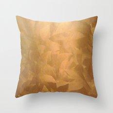 Brushed Copper Metallic Throw Pillow