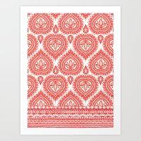Decorative Red Art Print