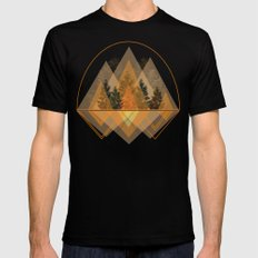 try again tree-angles mountains Mens Fitted Tee Black SMALL