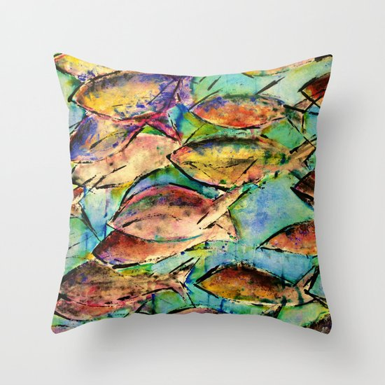 Fish throw pillow by agnes trachet society6 for Fish throw pillows