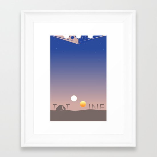 TATOOINE Framed Art Print