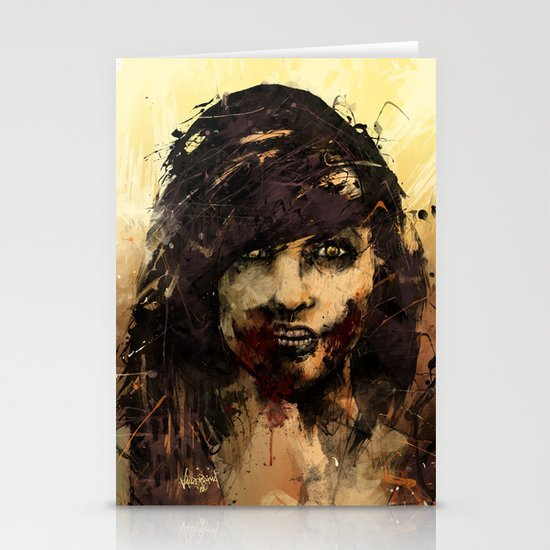 Female Zombie Stationery Card