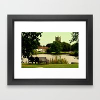 The Village Pond Framed Art Print
