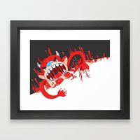 Monster!! Eats you whole! Framed Art Print