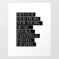 Devour culture Art Print