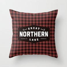 Great Northern Lake Throw Pillow