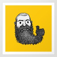 BEARDS UP Art Print