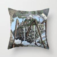 Spiderback Mountain Throw Pillow