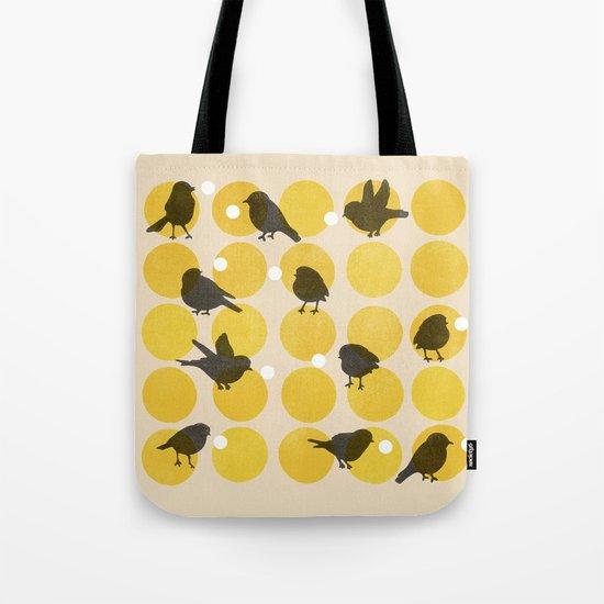 Birdsong Yellow Tote Bag