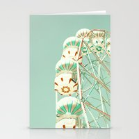 Soft Aqua Ferris Wheel  Stationery Cards