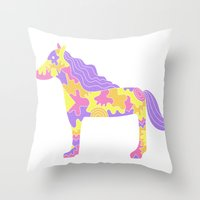 This is not a horse Throw Pillow