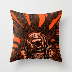 A Spacesuit Has Been Compromised Throw Pillow