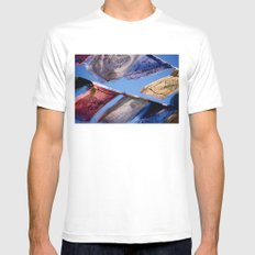 Nepal White Mens Fitted Tee SMALL