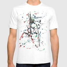 blob White SMALL Mens Fitted Tee