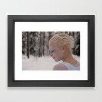 Being in white Framed Art Print