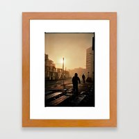 Foggy City Framed Art Print
