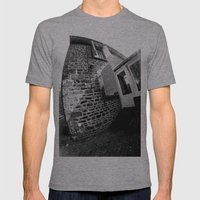 Confused Houses Mens Fitted Tee Athletic Grey SMALL